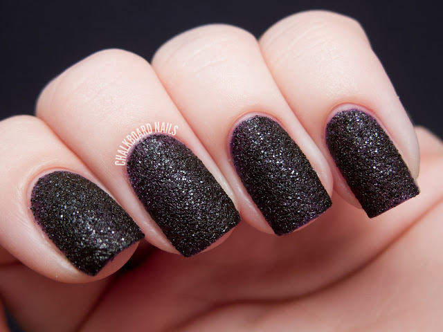 Chalkboard Nails: OPI Vesper Liquid Sand nail polish