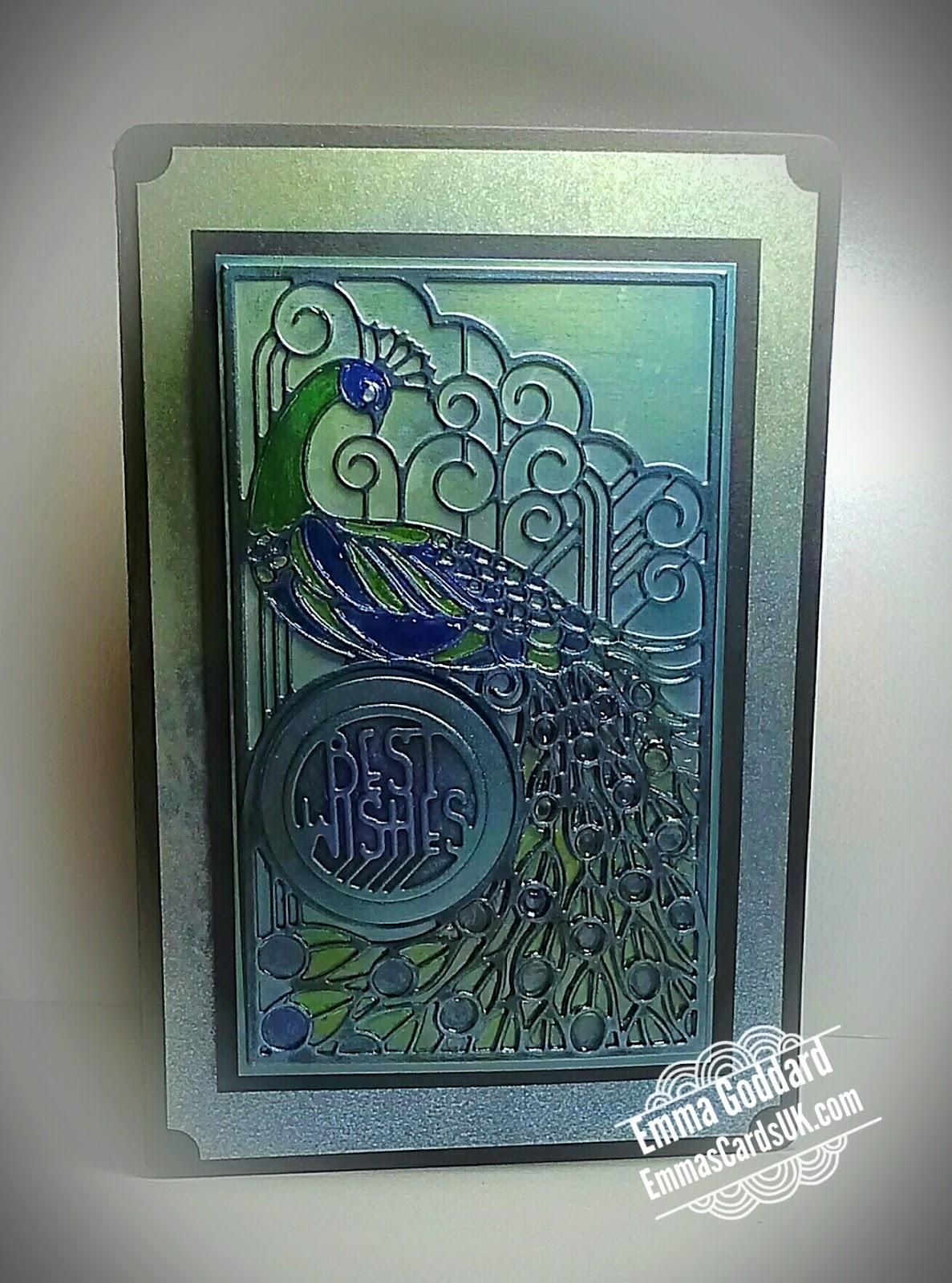 emmas cards uk peacock card