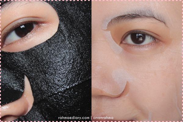 black and white sheet mask