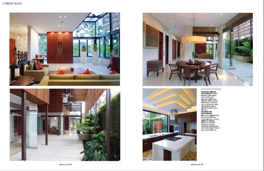 Rumah Interior Ruang Tamu Didominasi Warna Krem Putih Tekstur Kaya Kayu  Furniture Door Frame Berukir Menyumbangkan