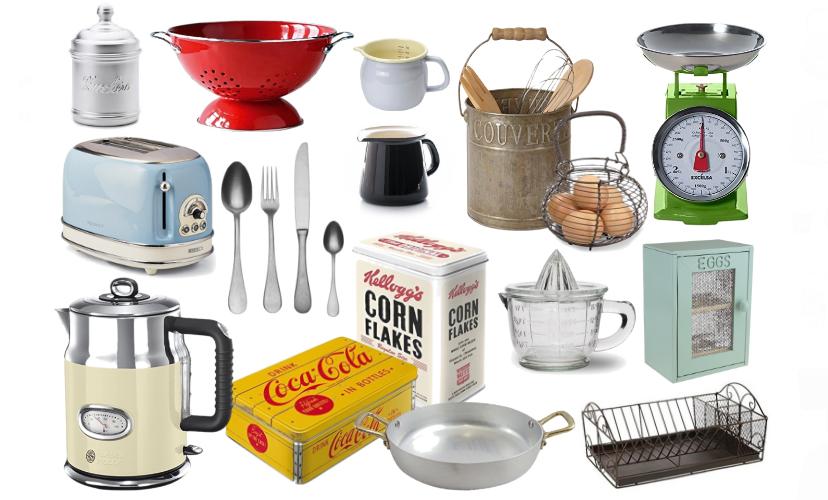 La cucina vintage accessori utili e belli per chi ama lo stile retrò