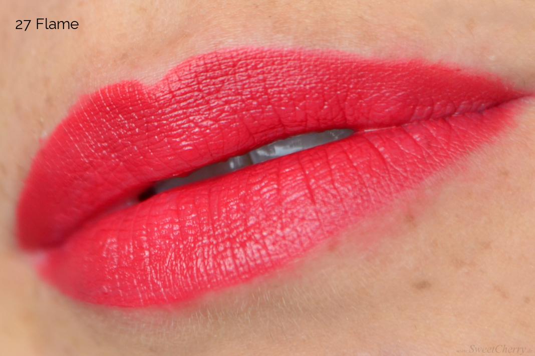 IQ Cosmetics Colourful Lipstick Matt 27 Flame Tragebild