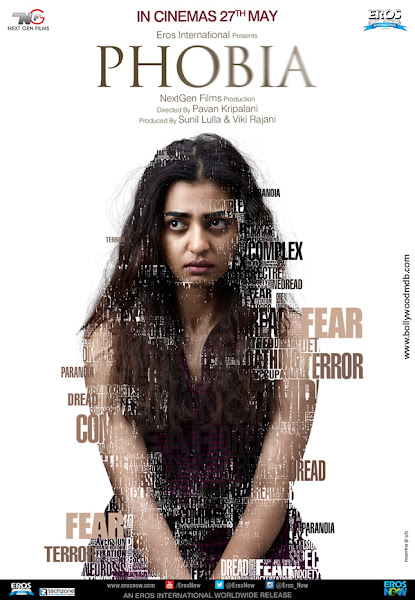 Poster Of Phobia 2016 480p Hindi DVDRip Full Movie Download With ESubs