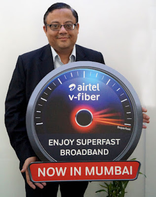 Airtel V-Fiber Superfast Broadband Service With 100Mbps Comes to Mumbai