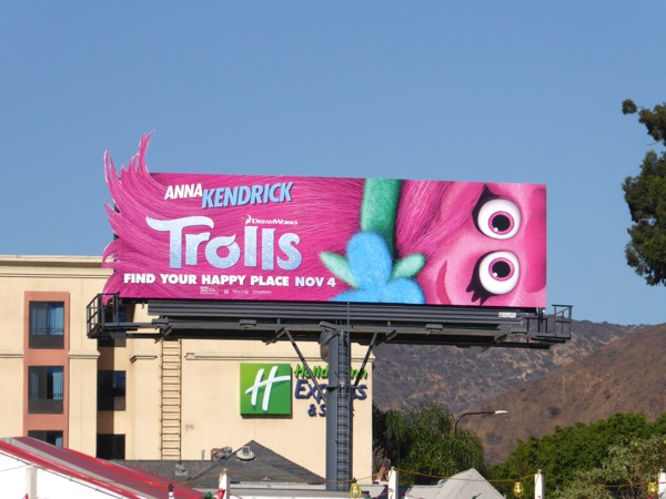 Trolls Poppy hair special extension billboard