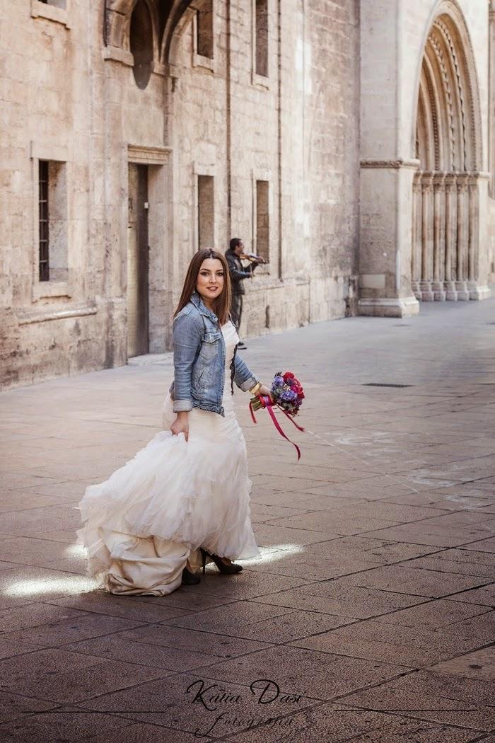 Cazadora vaquera para novia