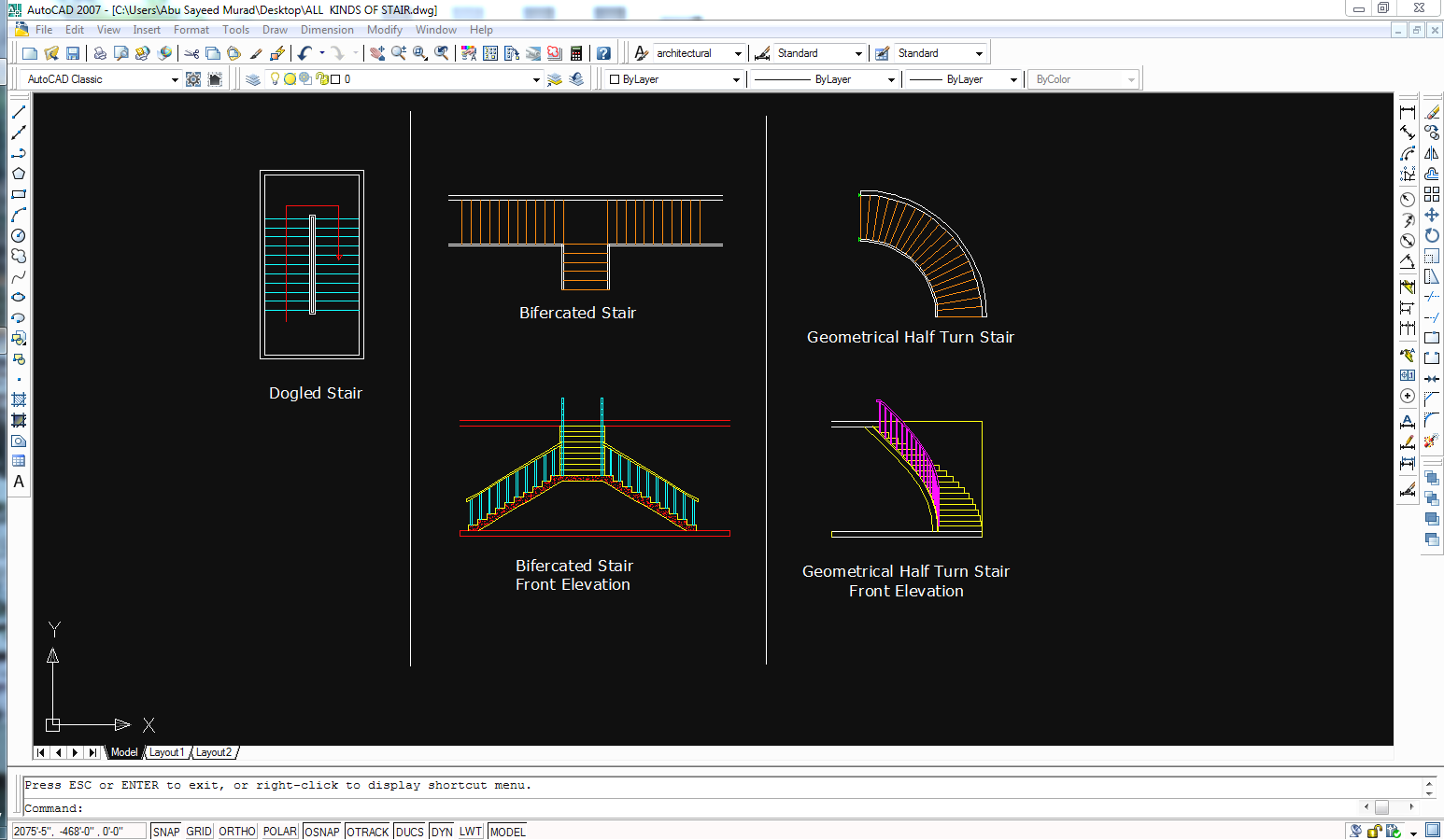 Staircase Autocad Blocks And Drawings Free Downloads