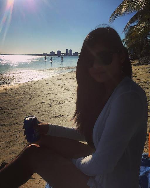 Hot Mia Khalifa Bikini Beach Image
