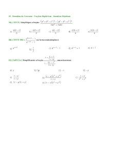 frações algébricas exercicios com respostas