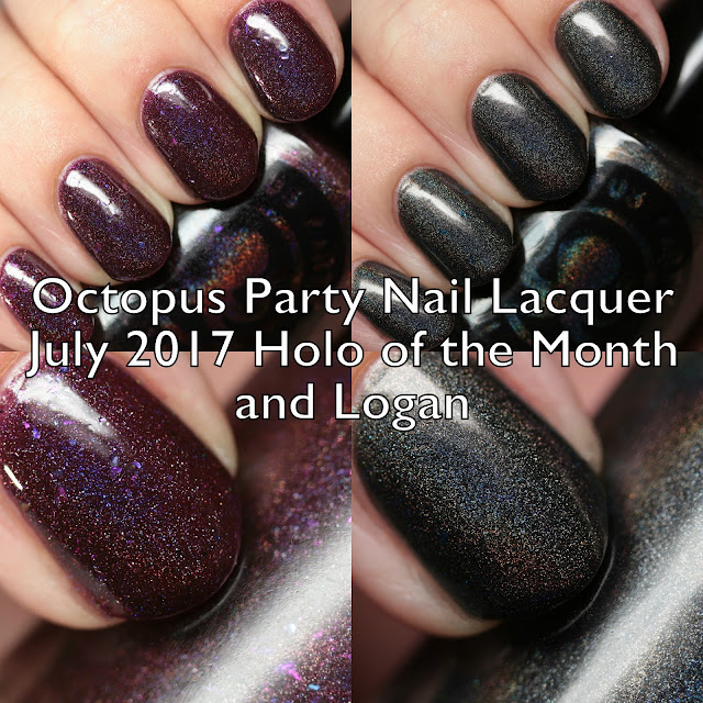 Octopus Party Nail Lacquer July 2017 Holo of the Month and Logan