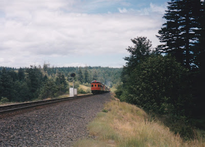 "NRM Observation Car #2955 ""James J. Gilmore"" at North Bonneville, Washington, on June 7, 1997"