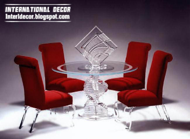 Luxurious Glass Dining Room Furniture Glass Tables Chairs