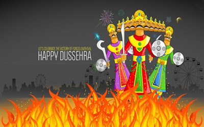 Happy Dussehra 2017 Animated Pic