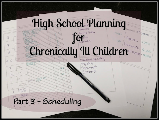 Unexpected Homeschool: High School Planning for Chronically Ill Children - Scheduling Courses