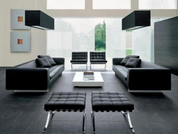 Muebles modernos minimalistas salas modernas de piel for Muebles en l modernos para sala