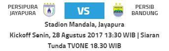 Persipura vs Persib Bandung Siaran Tunda