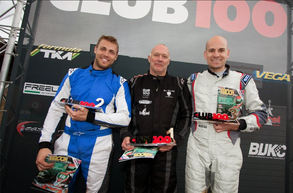 (pictured left to right) Darrell Lowe, Tim Hill and myself on the club 100 podium