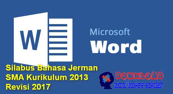 Silabus Bahasa Jerman SMA Kurikulum 2013 Revisi 2017