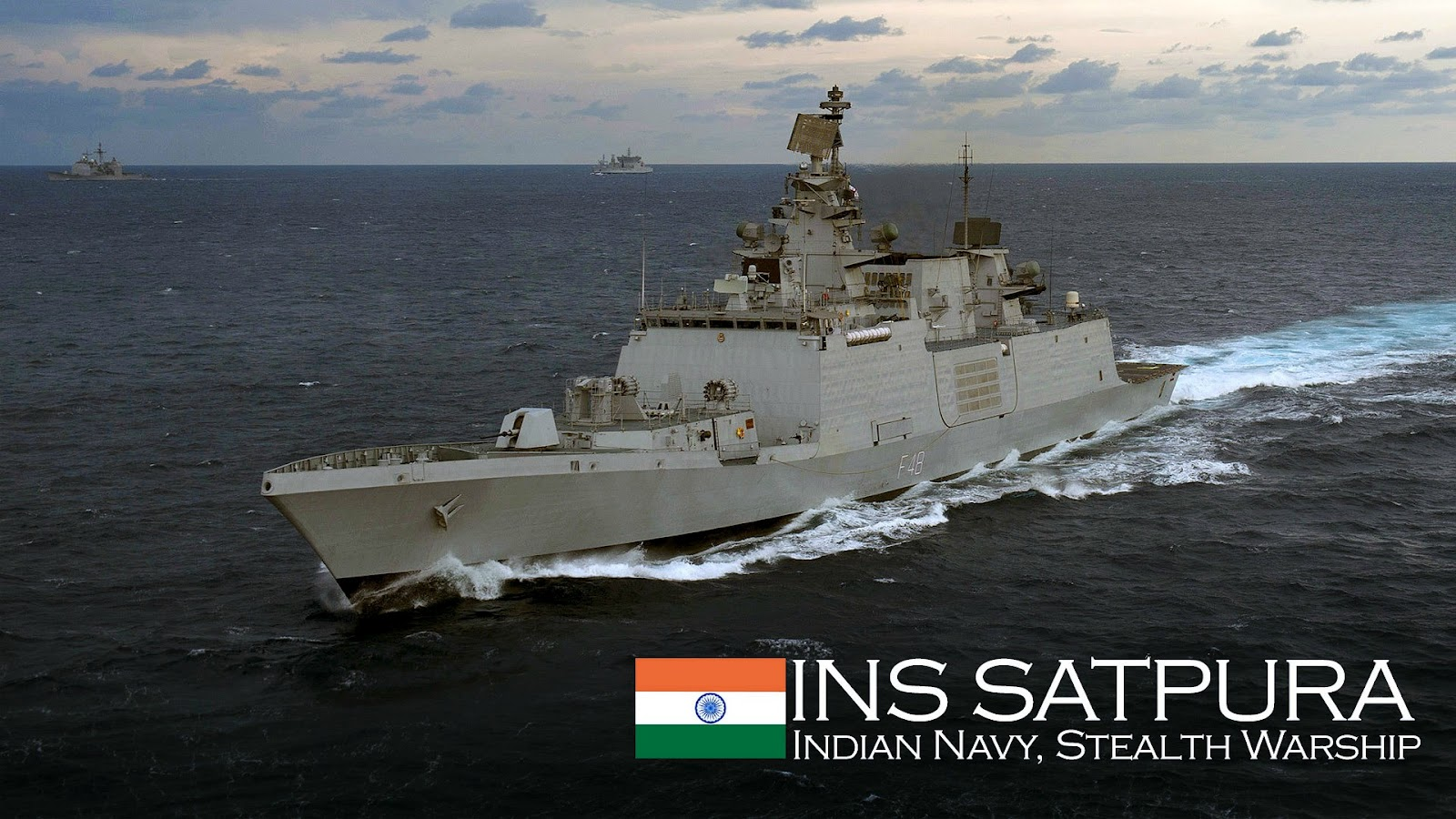 Indian Navy Image Gallery Wallpapers: INS Satpura (F48), Indian Shivalik Class 17A Stealth
