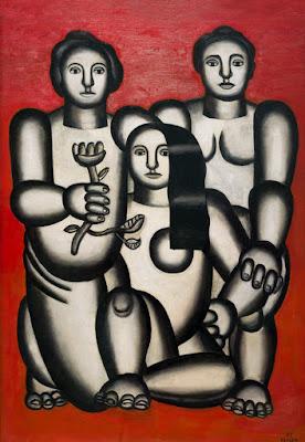 Fernand Leger - Trois femmes sur fond rouge,1927.