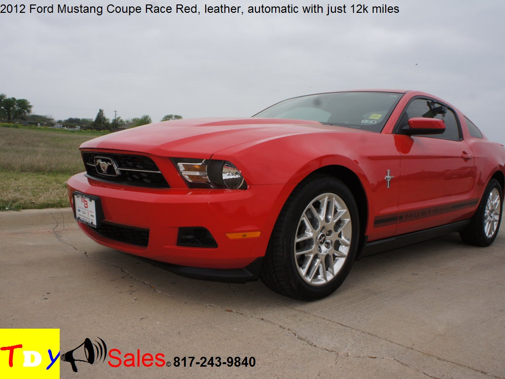for sale 2012 ford mustang coupe race red 12k miles tdy sales 817 243 9840 dealer. Black Bedroom Furniture Sets. Home Design Ideas