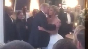 Trump crashes New Jersey wedding