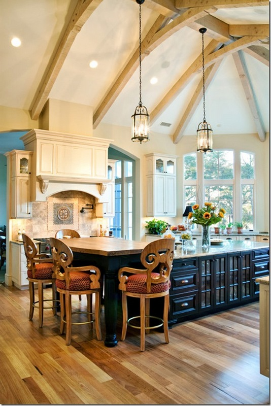 Our French Inspired Home: Rustic Ceiling Beams: Old World