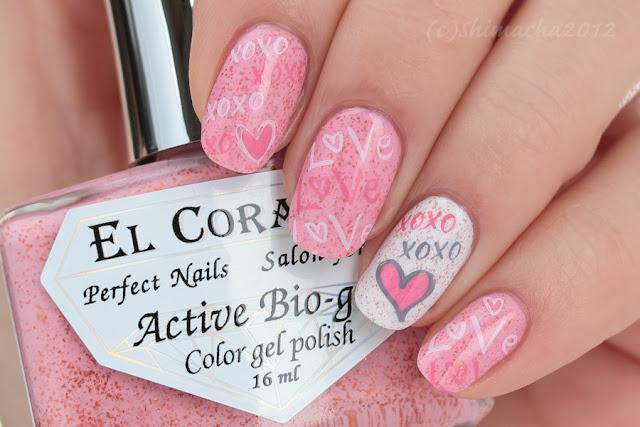 Valentine Nails, nail stamping, バレンタインネイル, スタンピングネイル, ネイルスタンプ