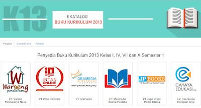 Buku K13 Online Resmi E-Katalog LKPP Kemdikbud