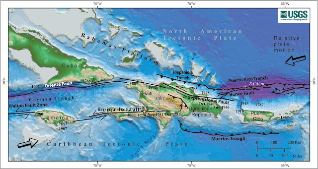seismicity map dominican republic