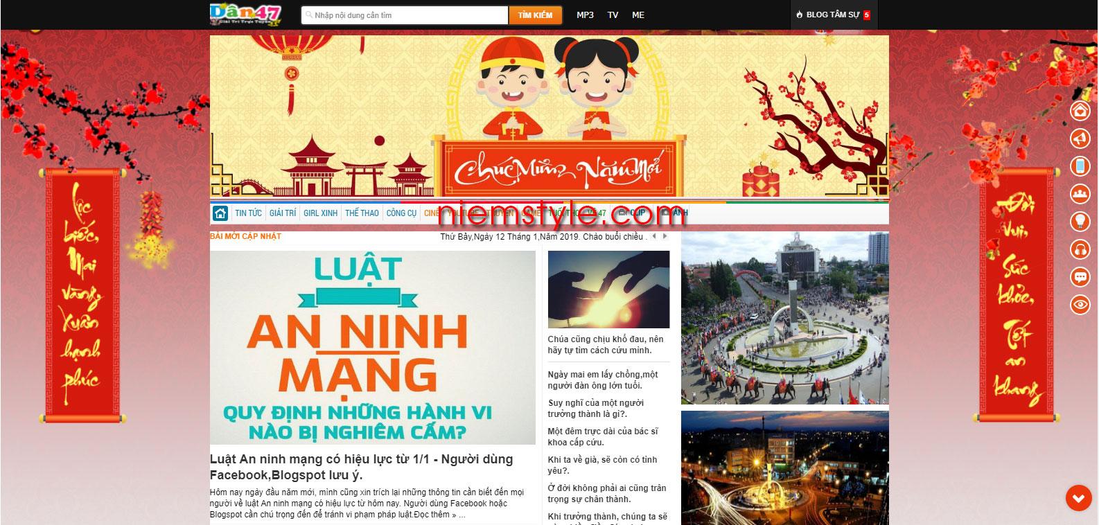 Niemstyle | Code trang trí background ngày tết đơn giản cho blogspot