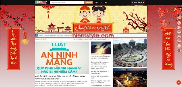 Code trang trí background ngày tết đơn giản cho blogspot