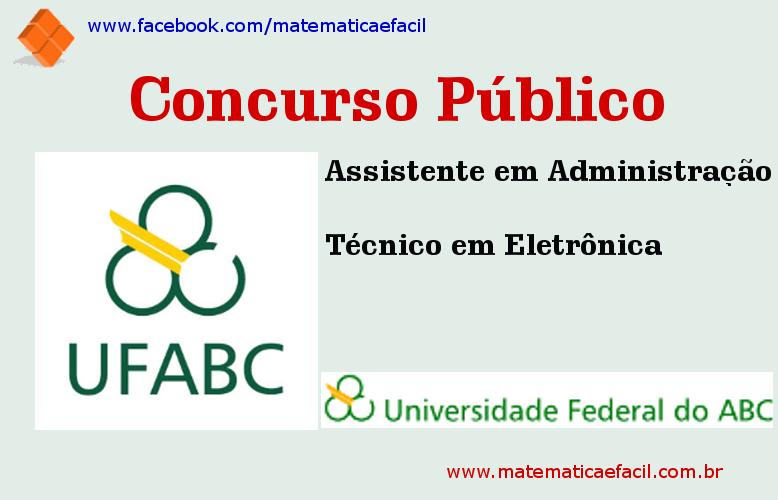 Concurso Público para a Universidade Federal do ABC – UFABC