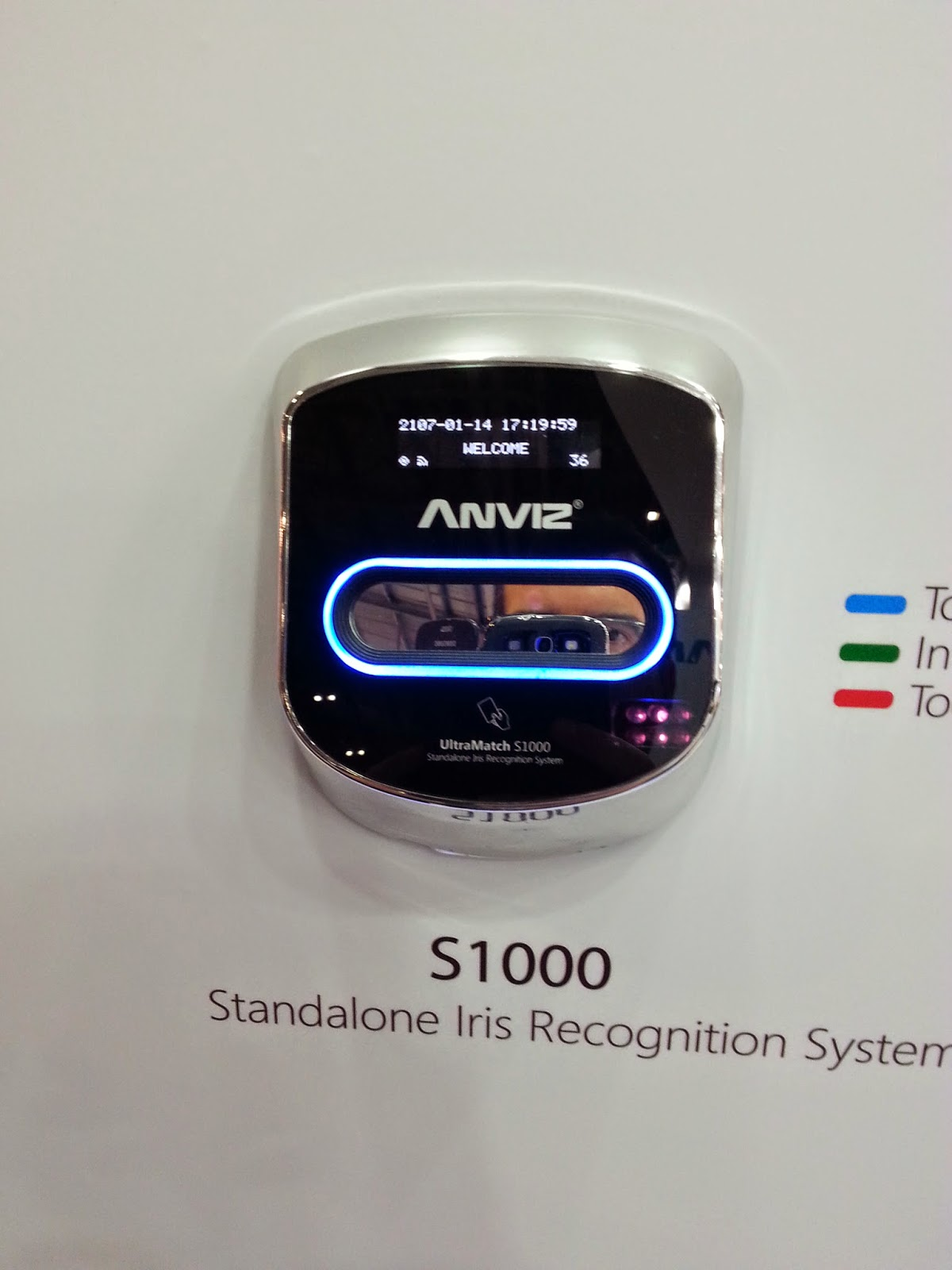 Terminal Iris de control de accesos Ultramatch S1000 de Anviz