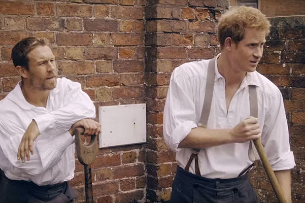 Prince Harry starred in a movie about Rugby