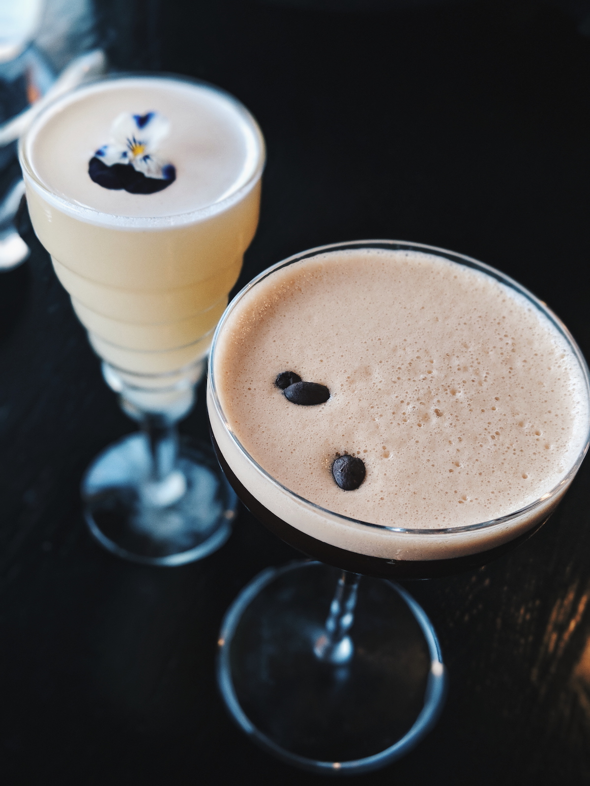 An espresso martini & Gingerbread Runaway cocktail from Sea Containers restaurant.
