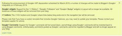 جوجل تعلن إنتهاء دعم خدمات جوجل بلس لمدونات بلوجر