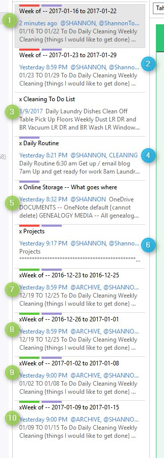 onenote daily planner