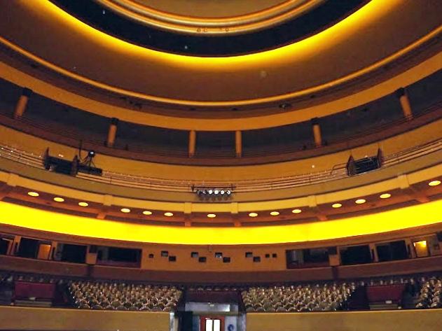 Vista da sala de espetáculos do Teatro Coliseu do Porto