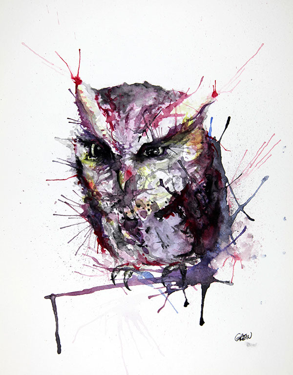 11-Owl-Philipp-Grein-Animal-Paintings-in-Splashes-of-Color-www-designstack-co