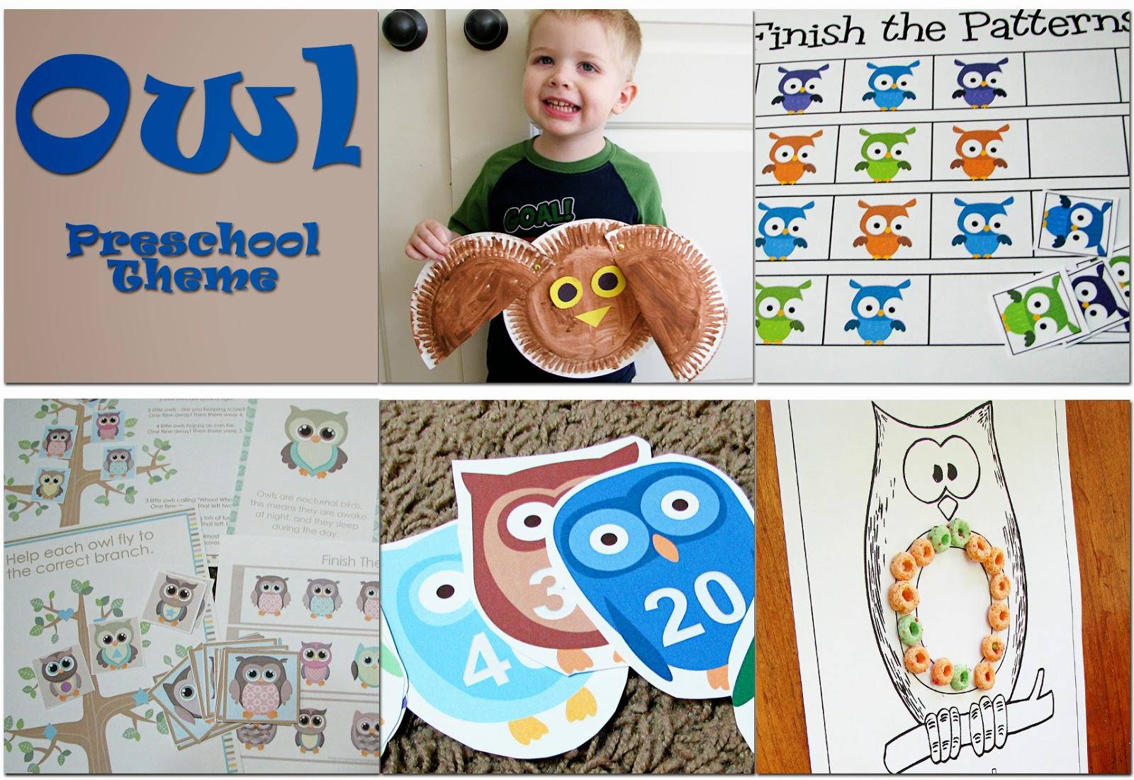 Mommy S Little Helper Owls Preschool Theme