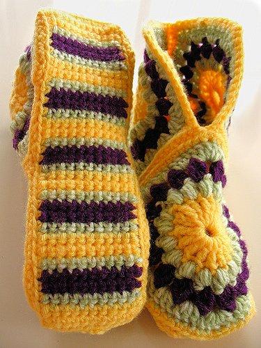 Patron Crochet Zapatillas Granny