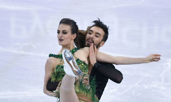 Papadakis's skimpy dress slipped during a raunchy short routine in Pyeongchang to leave little to the imagination of millions of television viewers around the world.