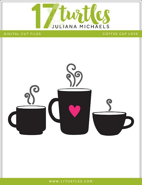 Fall Coffee Lovers Blog Hop Pumpkin Spice Coffee Card Cut File Included 17turtles