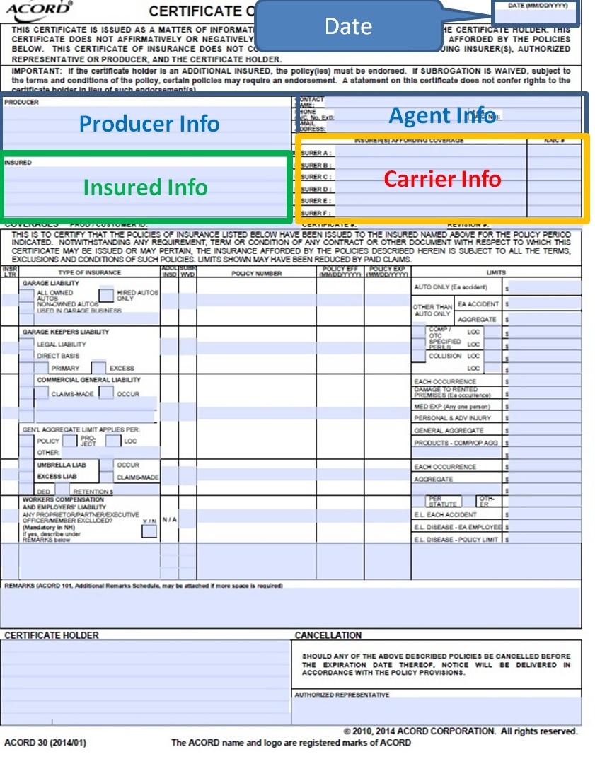 Garage Keepers Liability Acord Form  Dandk Organizer