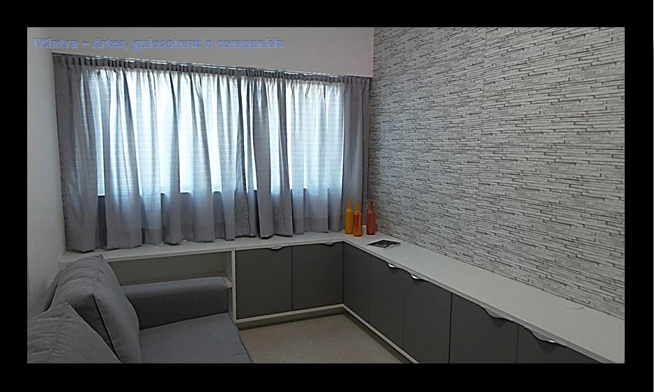 Cortinas Para Sala De Estar Branca ~ Usei trilho max simples fixado no vão formado por uma viga logo acima