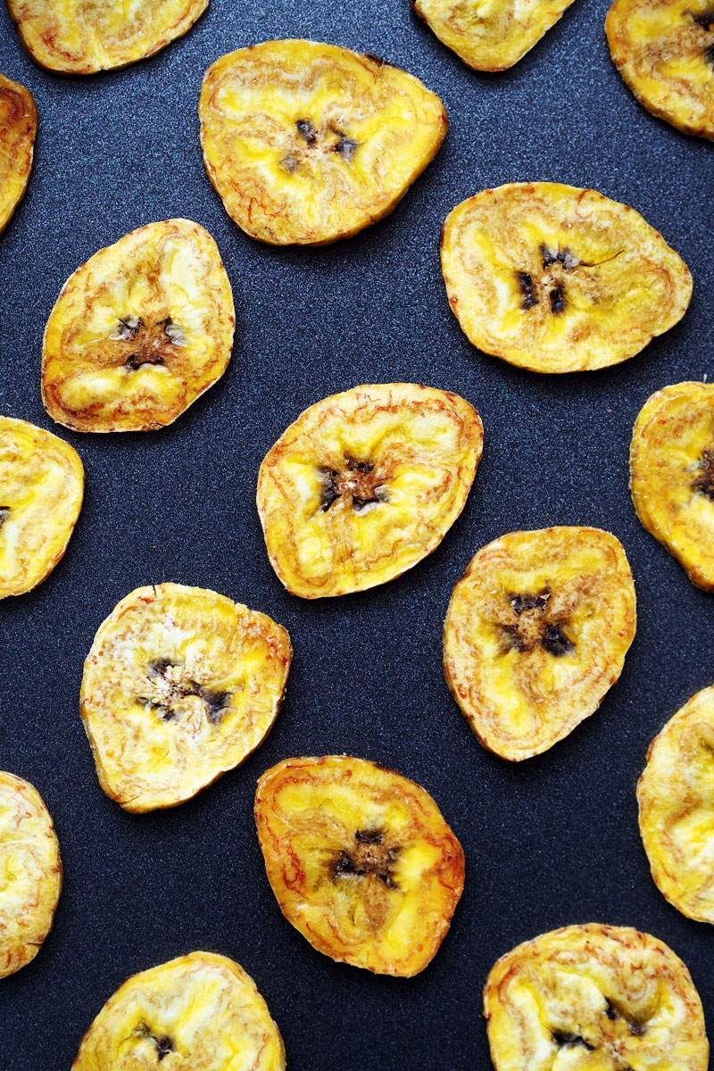 pieczone chipsy z plantanów