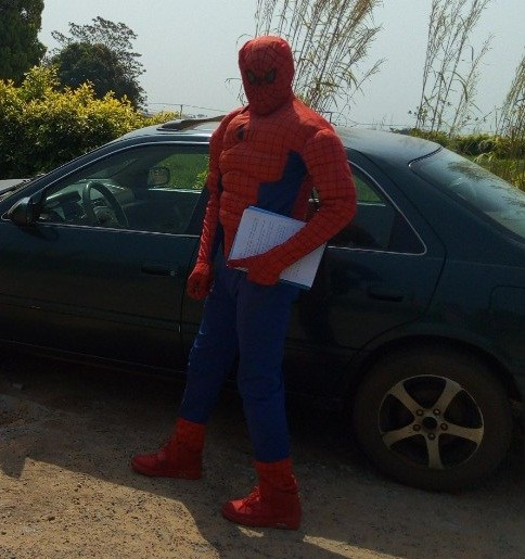Image result for ASUU Strike: Lecturer disguises as Spider Man to attend to students