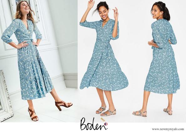 Kate Middleton wore Boden Aurora Midi Wrap Dress
