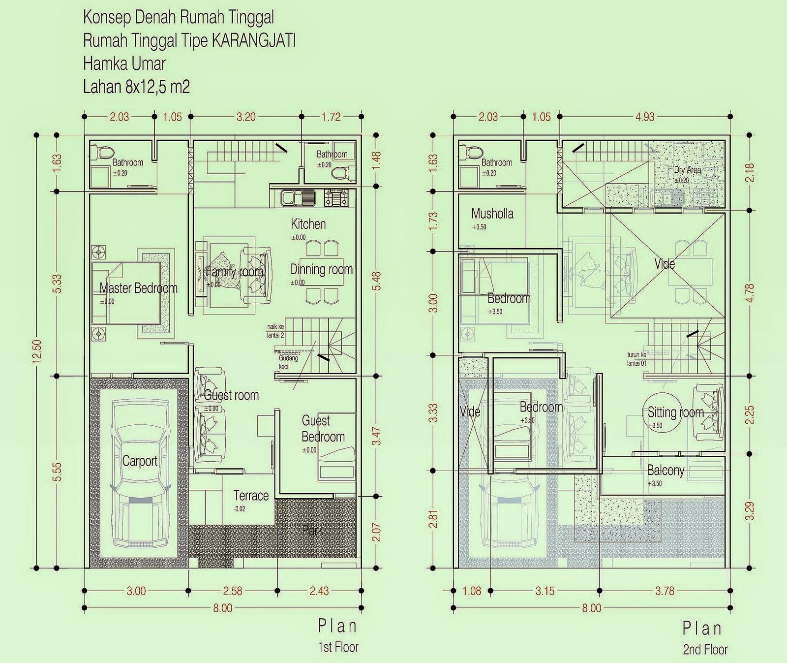 67 Desain Rumah Minimalis 2 Lantai Autocad Desain Rumah Minimalis